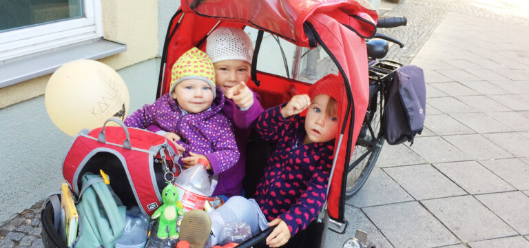 Lastenrad mit GLÜCKSMAMA Kids