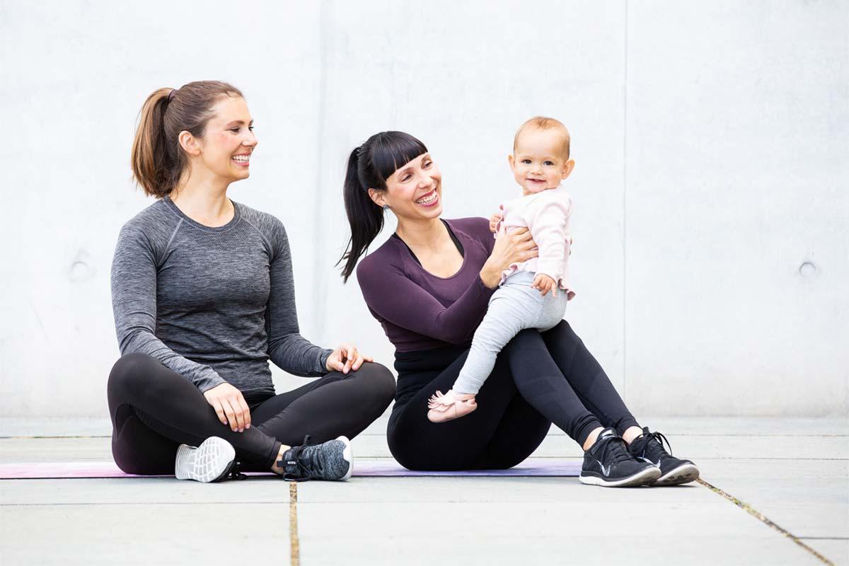 Onlinekurse für Rückbildung, Beckenboden, Schwangerschaftsgymnastik