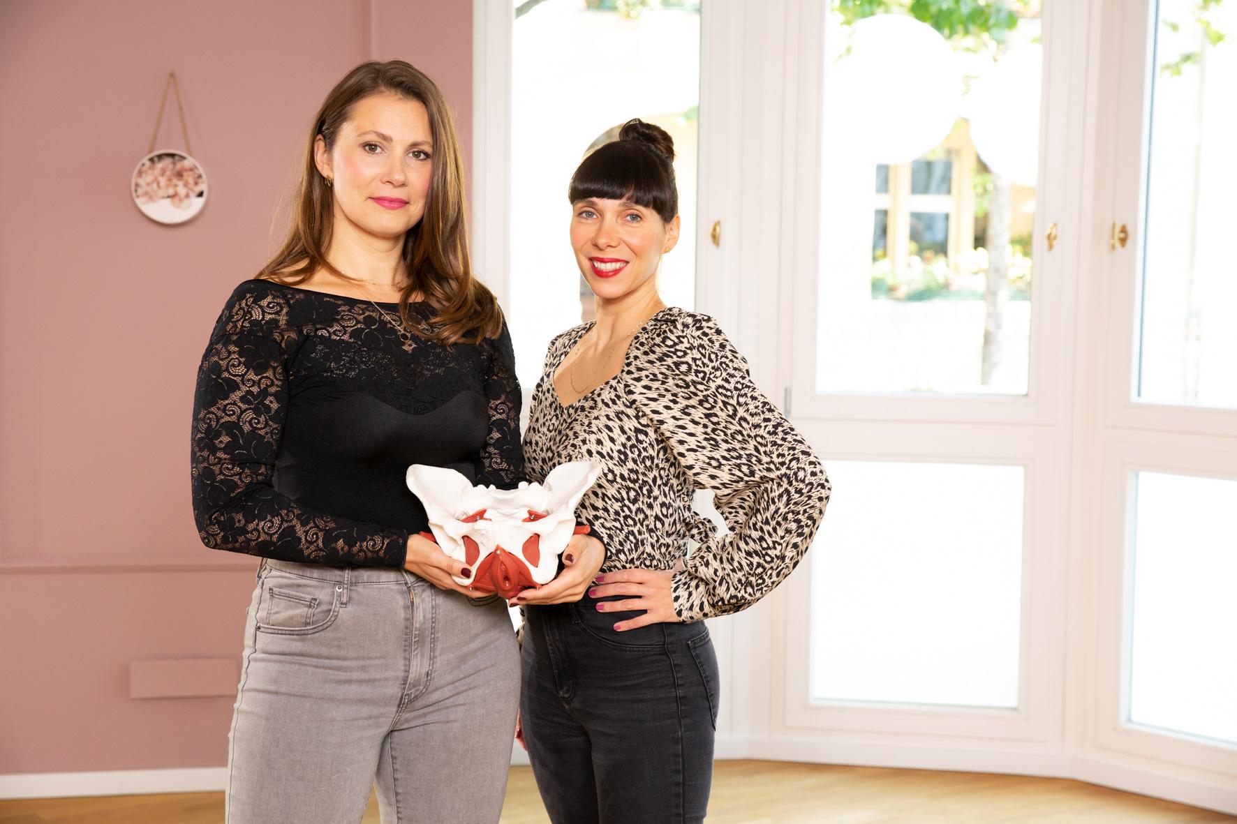 Kristina und Anne Weiterbildung Beckenboden